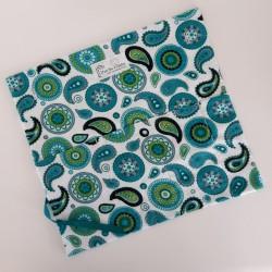 Paisley teintes turquoises